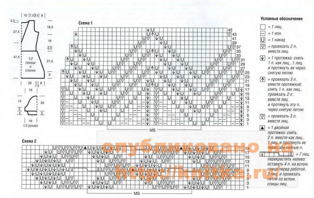 Схемы модульного вязания спицами 560