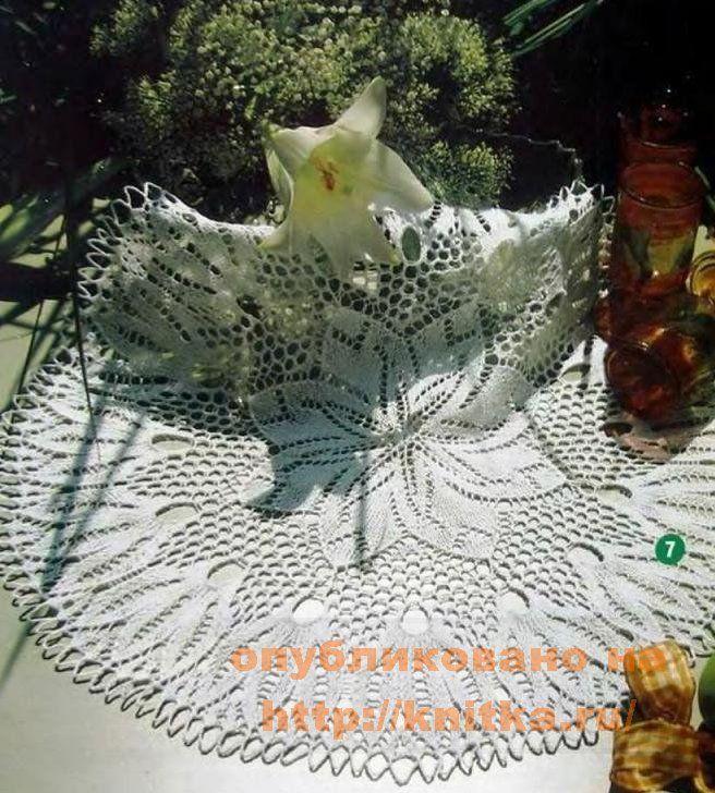 салфетка с цветком