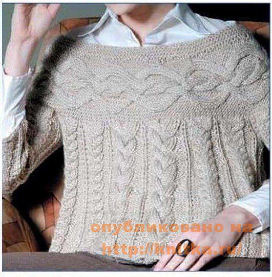Женский пуловер, Вязание для женщин