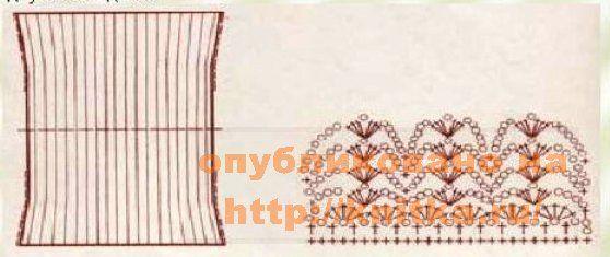 схема узора для болеро