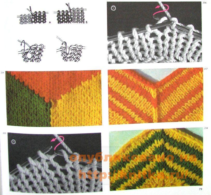 вязание узора елочка