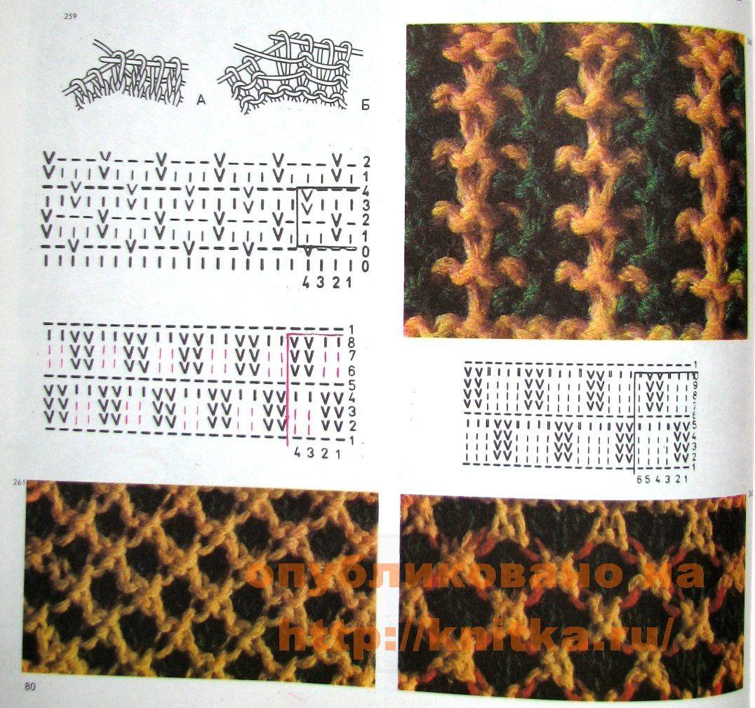 пестрое вязание узоры для вязания спицами