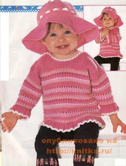 детский пуловер с рюшами