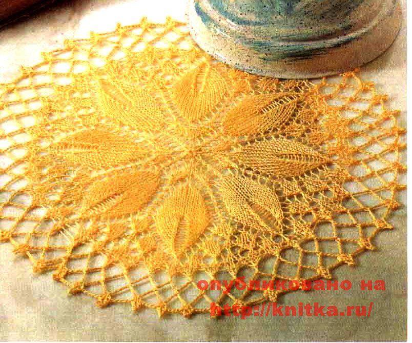 Вязание на спицах буклированными нитками