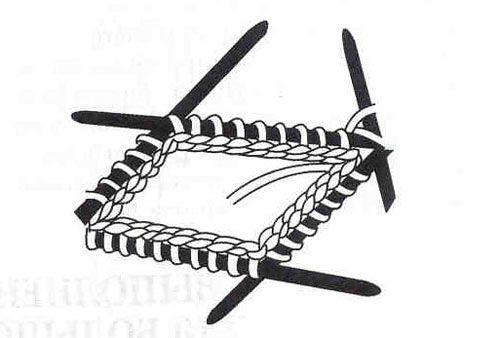 вязание варежек по кругу