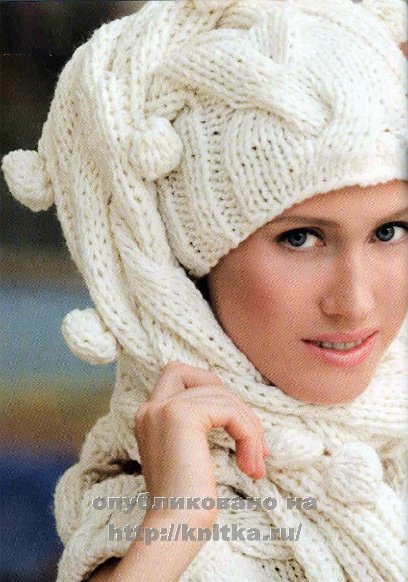 Женские шарфы спицами описанием схемами фото 393