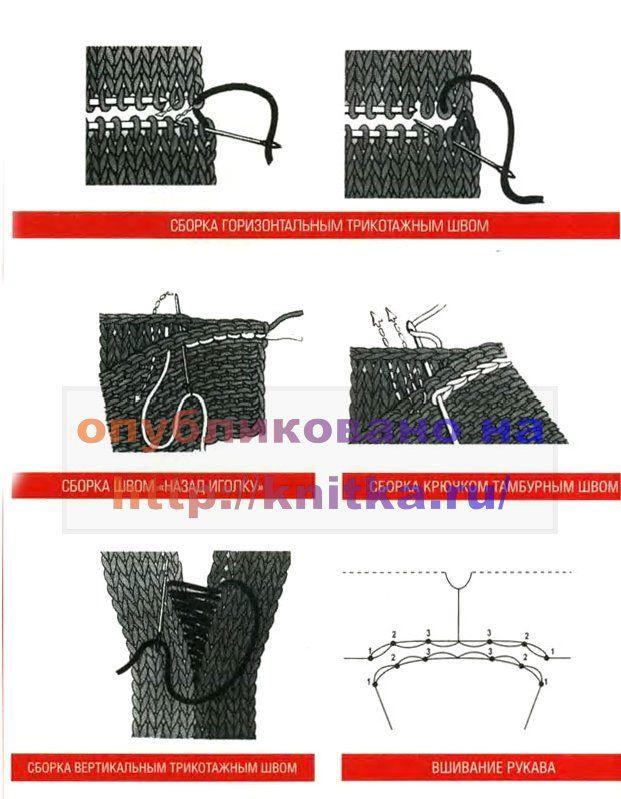 сборка вязаного изделия