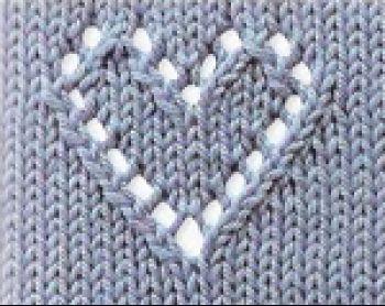 вязаное спицами сердечко