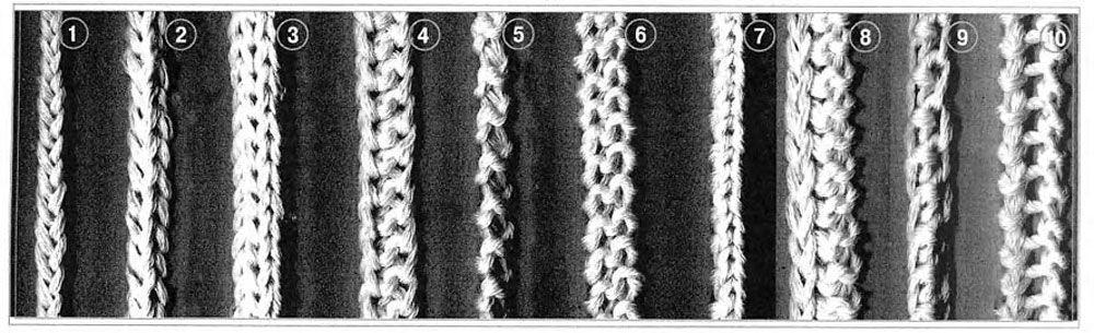 вяжем спицами шнуры