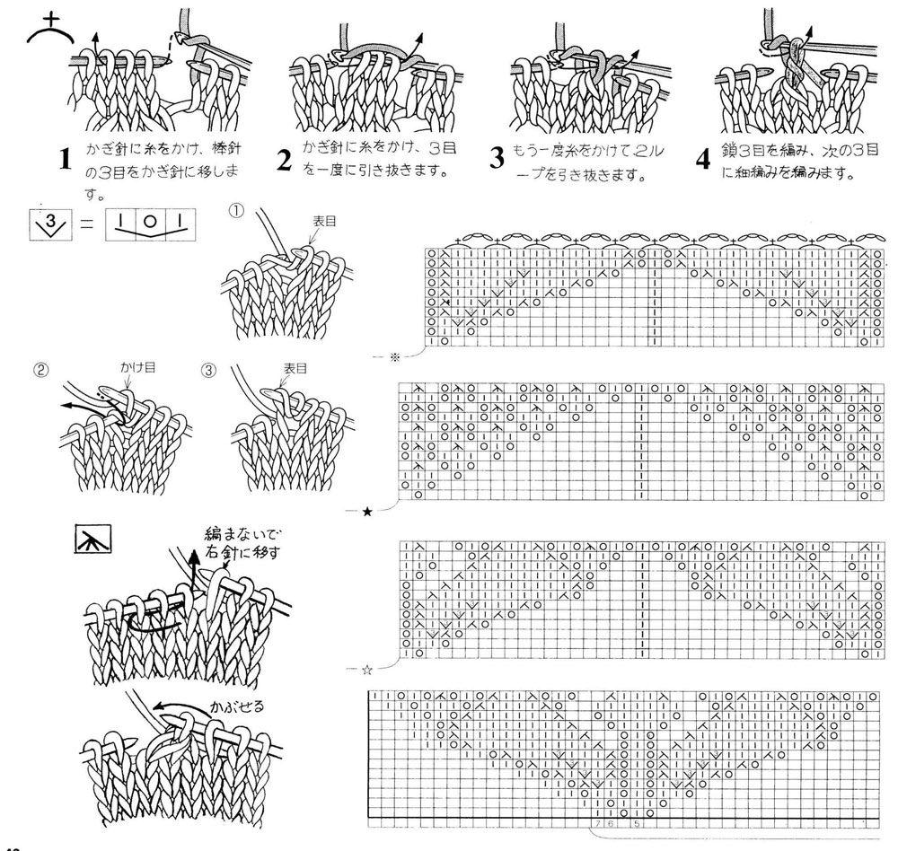 Шали.  Фото и схемы для вязания.