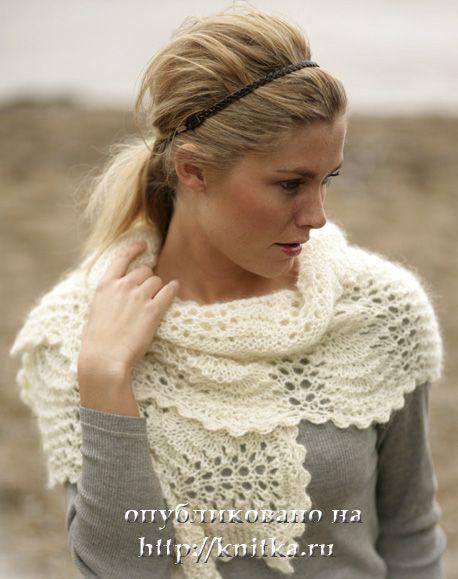 Схемы вязания спицами шарфов женских.