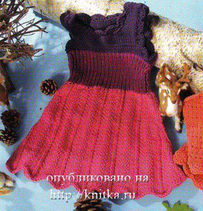 Трехцветное платье