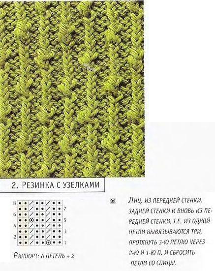 """Схема вязания узора""""Шишечки и"""