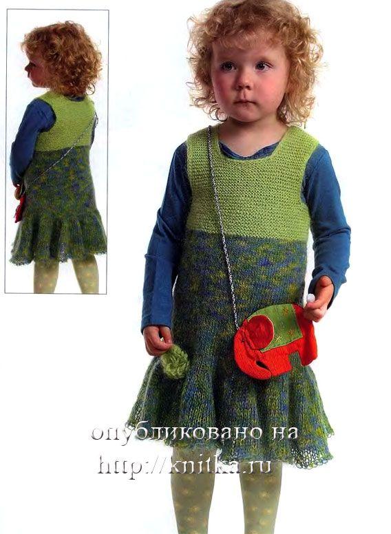 спицами платье для девочки