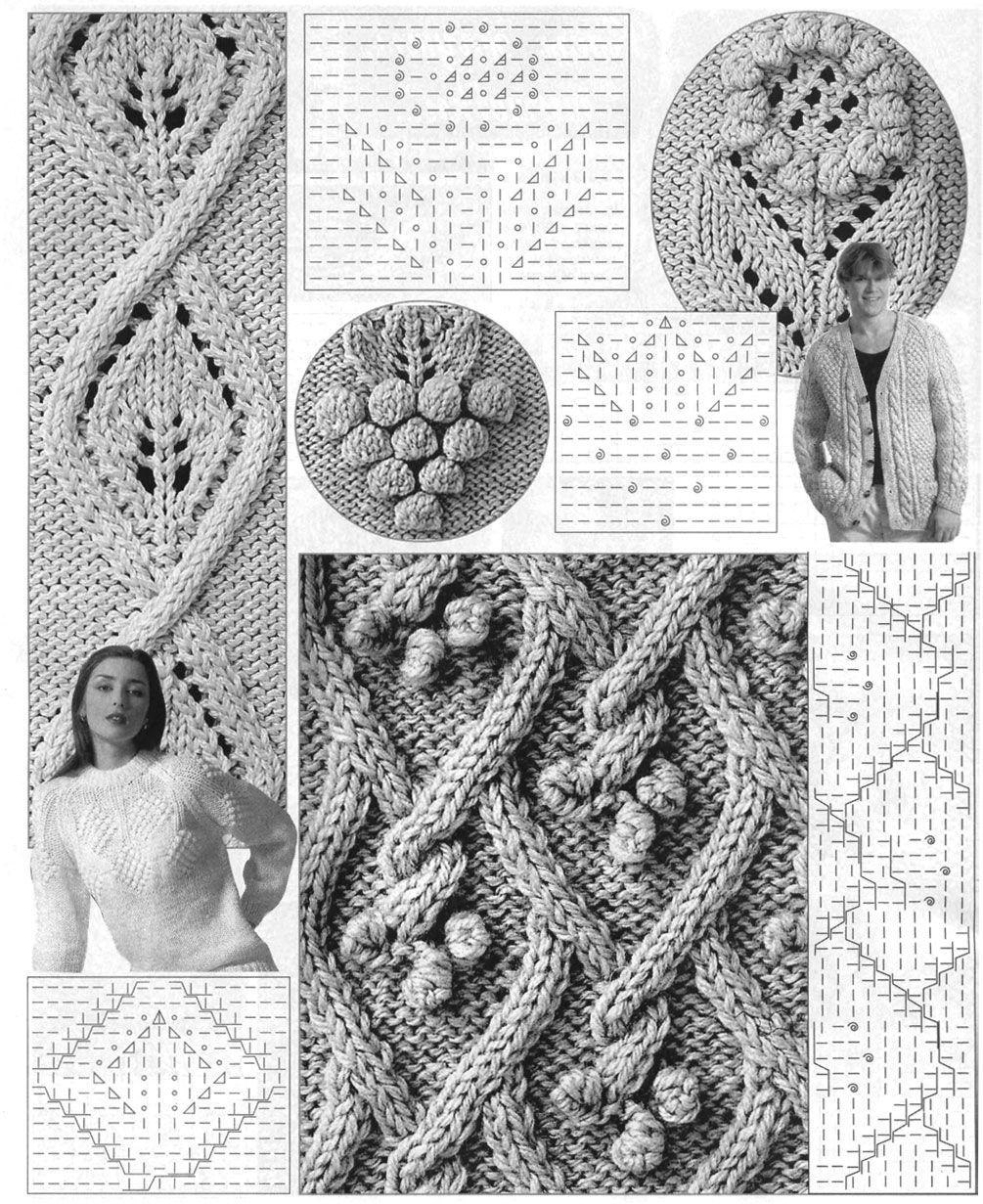вязание спицами шишечки схема.