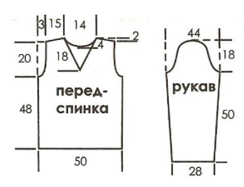 Мужской пуловер, связан спицами