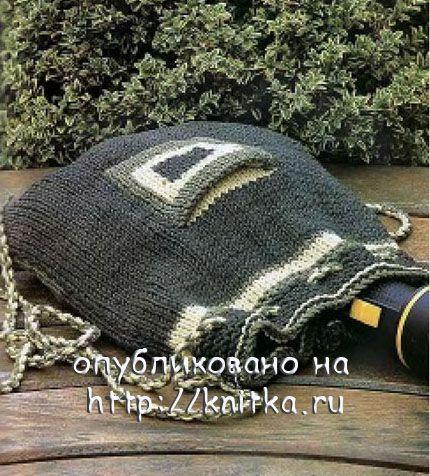Рюкзачок для искателей приключений. Вязание спицами.