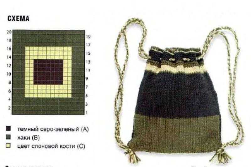 вязаный рюкзачок
