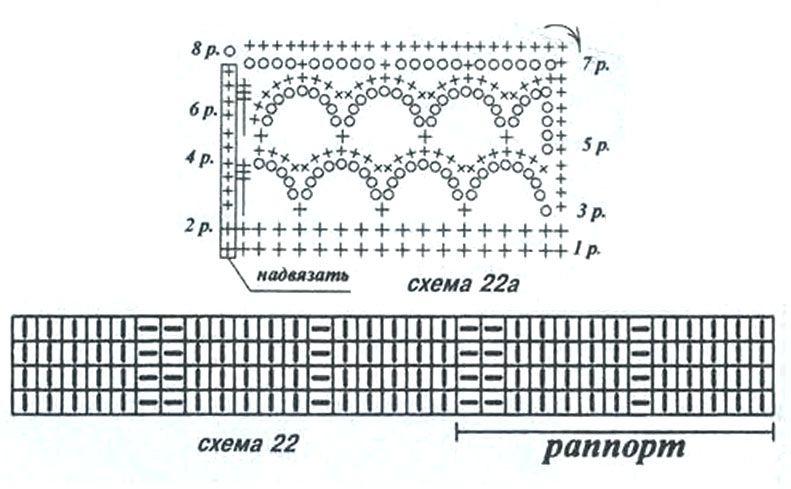 Модный топ, связанный спицами