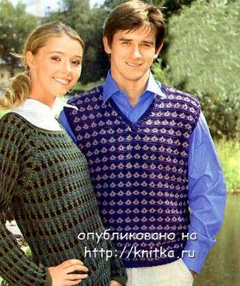 Вязание спицы мужские модели.