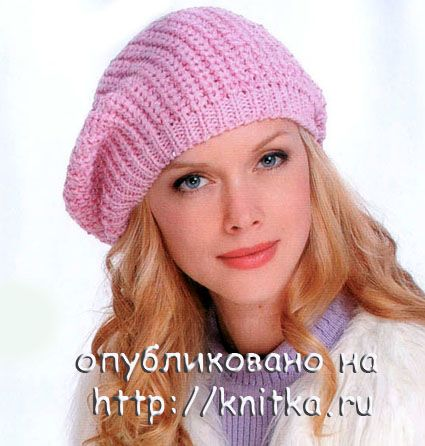 Вязаные спицами шапки, шарфы