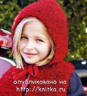 Шапочка - капор для девочки