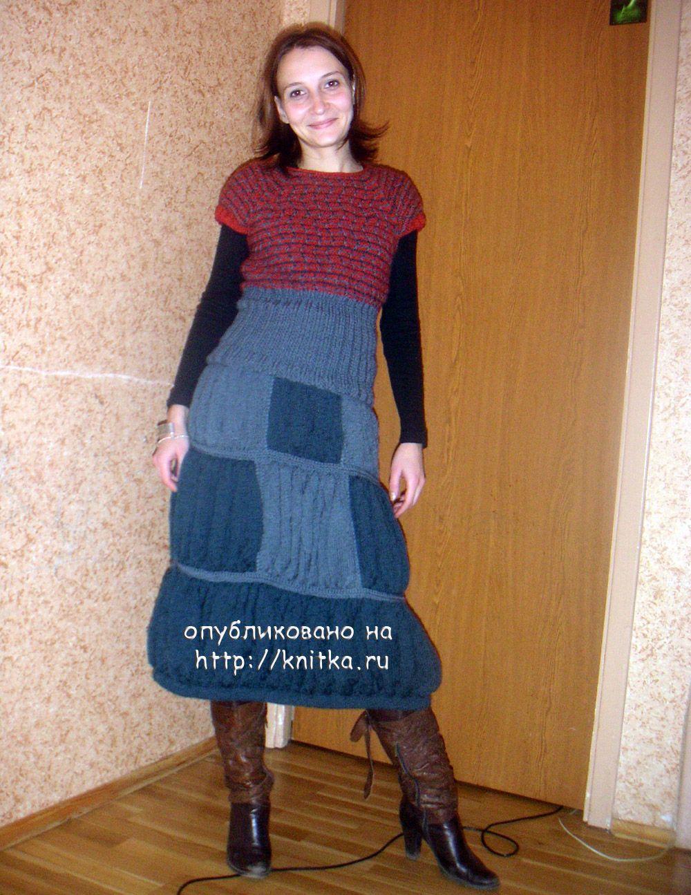 Юбка для девочки спицами. Работа Марины