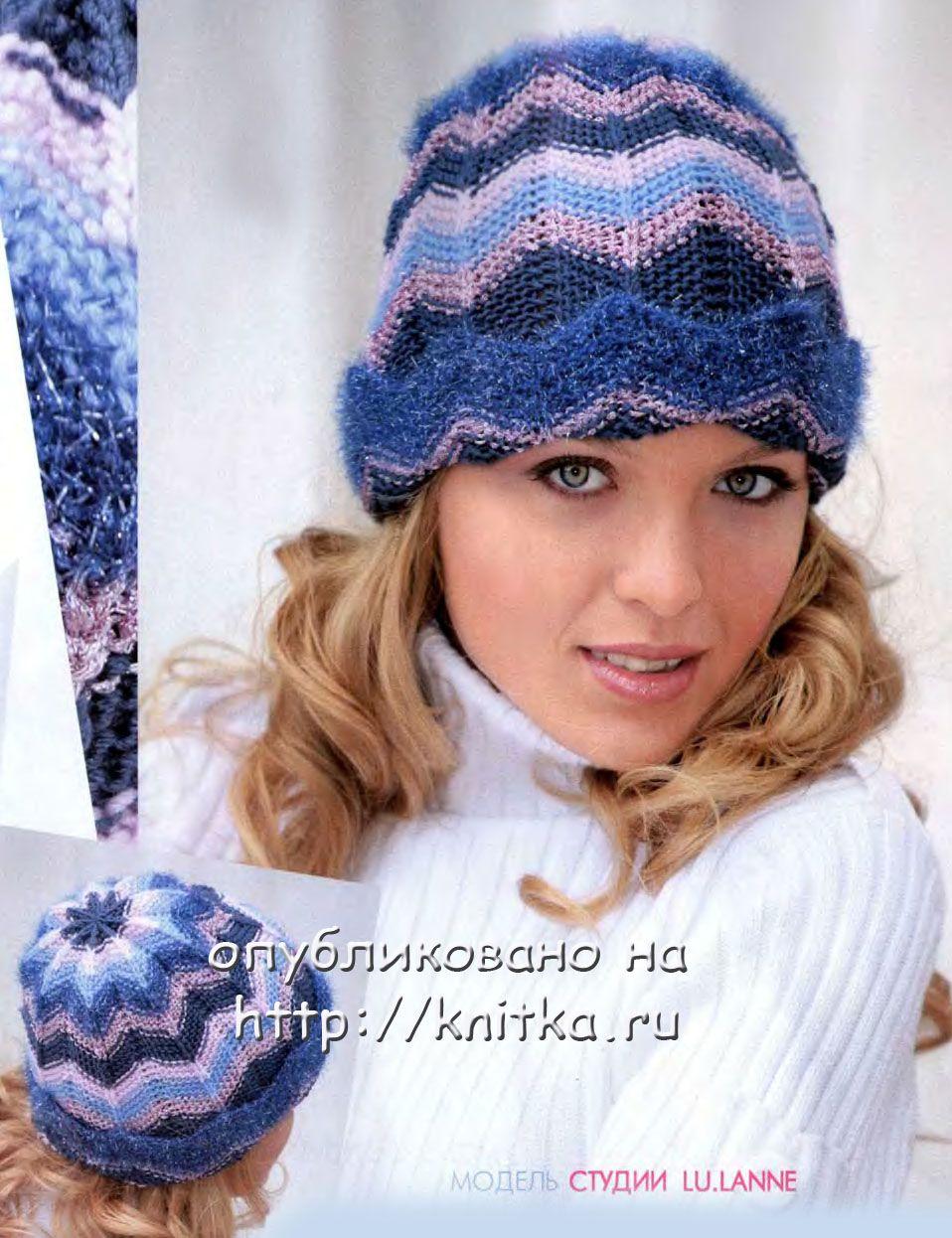 вязание спицами шапки женские схемы.