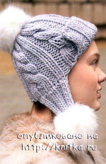 Вязаная шапка и муфта