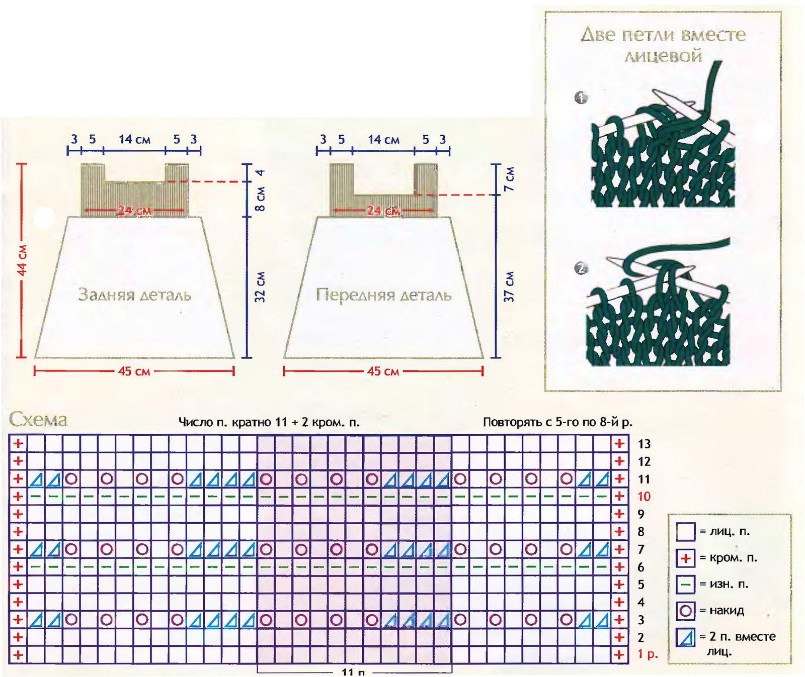 Стильное вязание спицами и со схемами