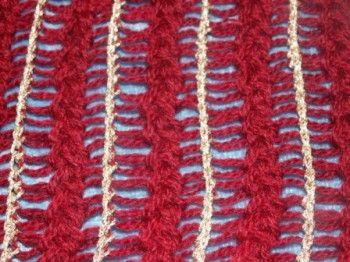 Легкий способ ажурного декора при вязании спицами. Вязание спицами.