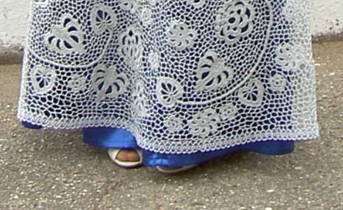 схема крючком детского платья на выпускной.