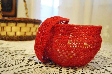 ваза, вязание крючком