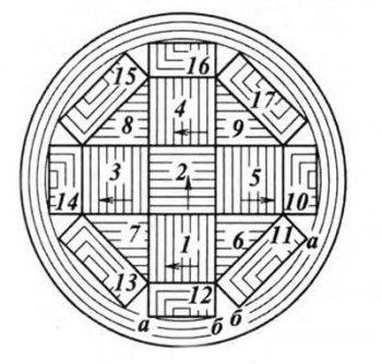 Шапочка с геометрическим узором, вязание спицами