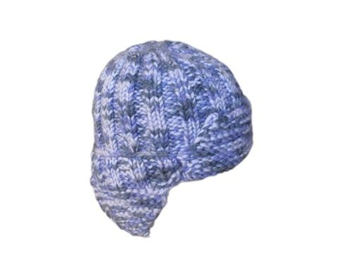 шапка ушанка спицами.