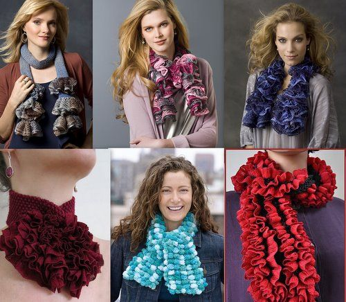 модное вязание 2012 спицами шарфы.
