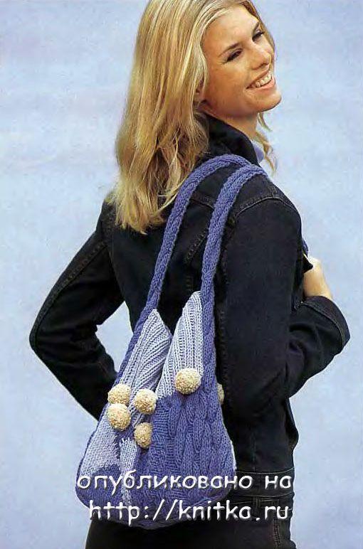 вязаные сумки спицами для девочек - Сумки.