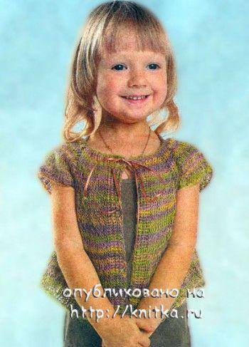 """На нашем женском портале  """"Дамочка """" Вы в любой момент найдете новость - вязание болеро для детей на спицах схемы, с..."""