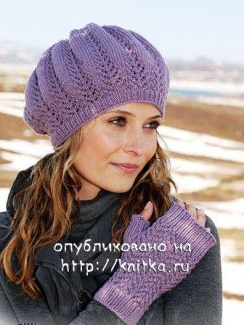 Вязание для женщин спицами. вязание спицами женский берет.
