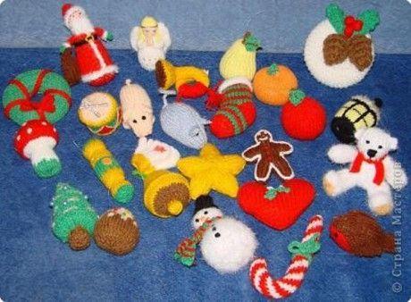 Вязаные игрушки на ёлку