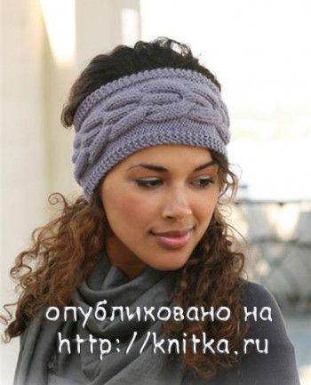 Вязаные повязки на голову - 3 СХЕМЫ. Вязание спицами.