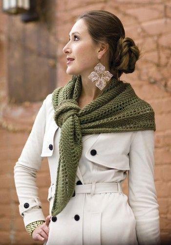 Косынка - шаль, связанная спицами. Вязание спицами.