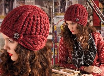Шапочка-шлем из Vogue Knitting