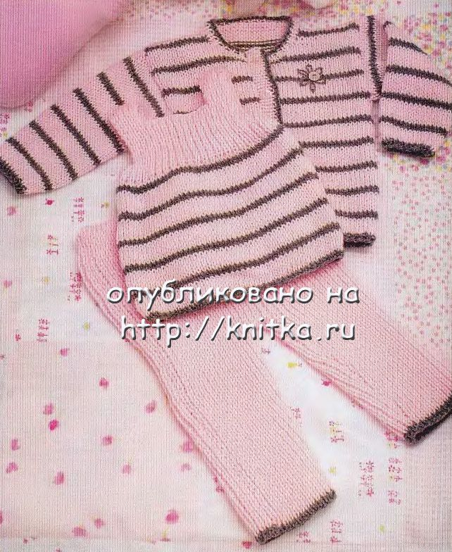 Вязание на спицах штанишки для малышей.