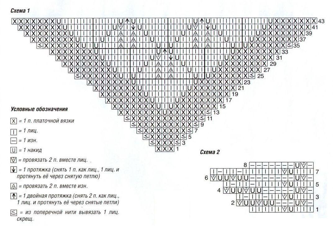 Схема вязания покемона мяута 50