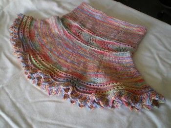 Летняя юбочка для девчонки. Вязание спицами.