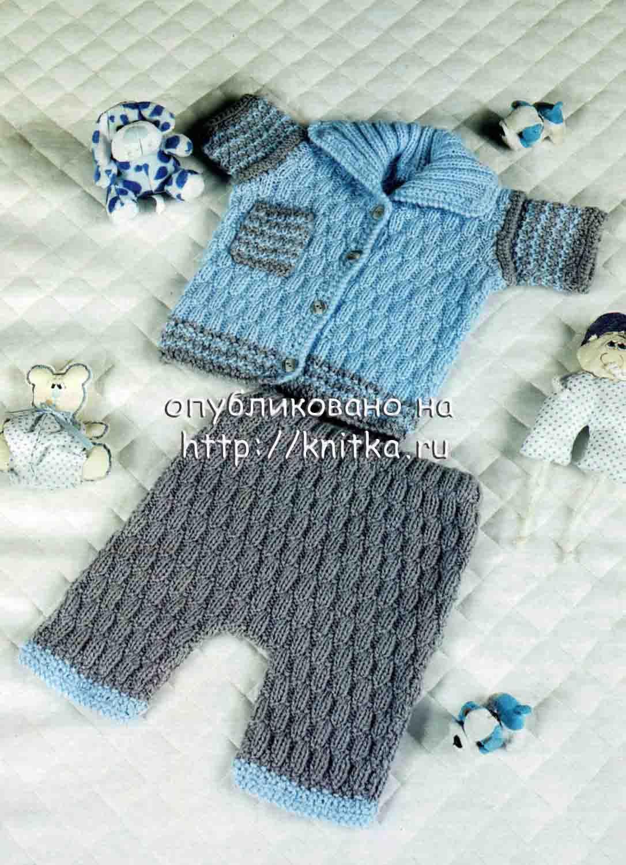 Детские штанишки вязаные спицами.