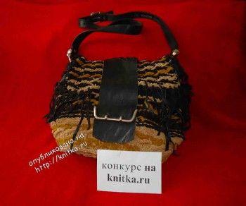 вязание сумок спицами фото