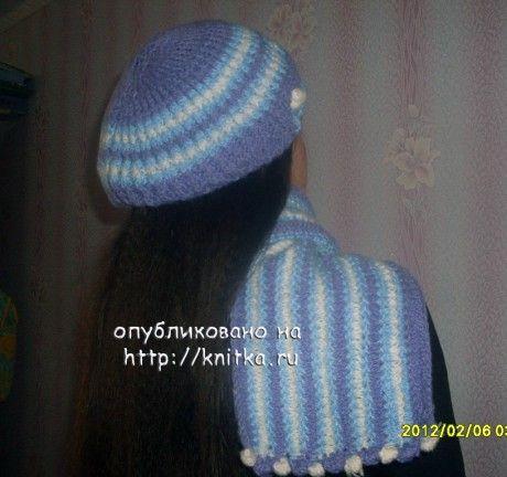 Вязаная комплект: берет и шарф
