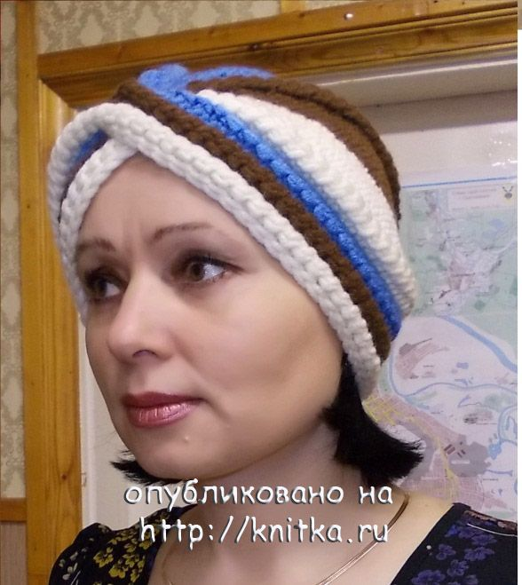 шапочка чалма вязание для женщин